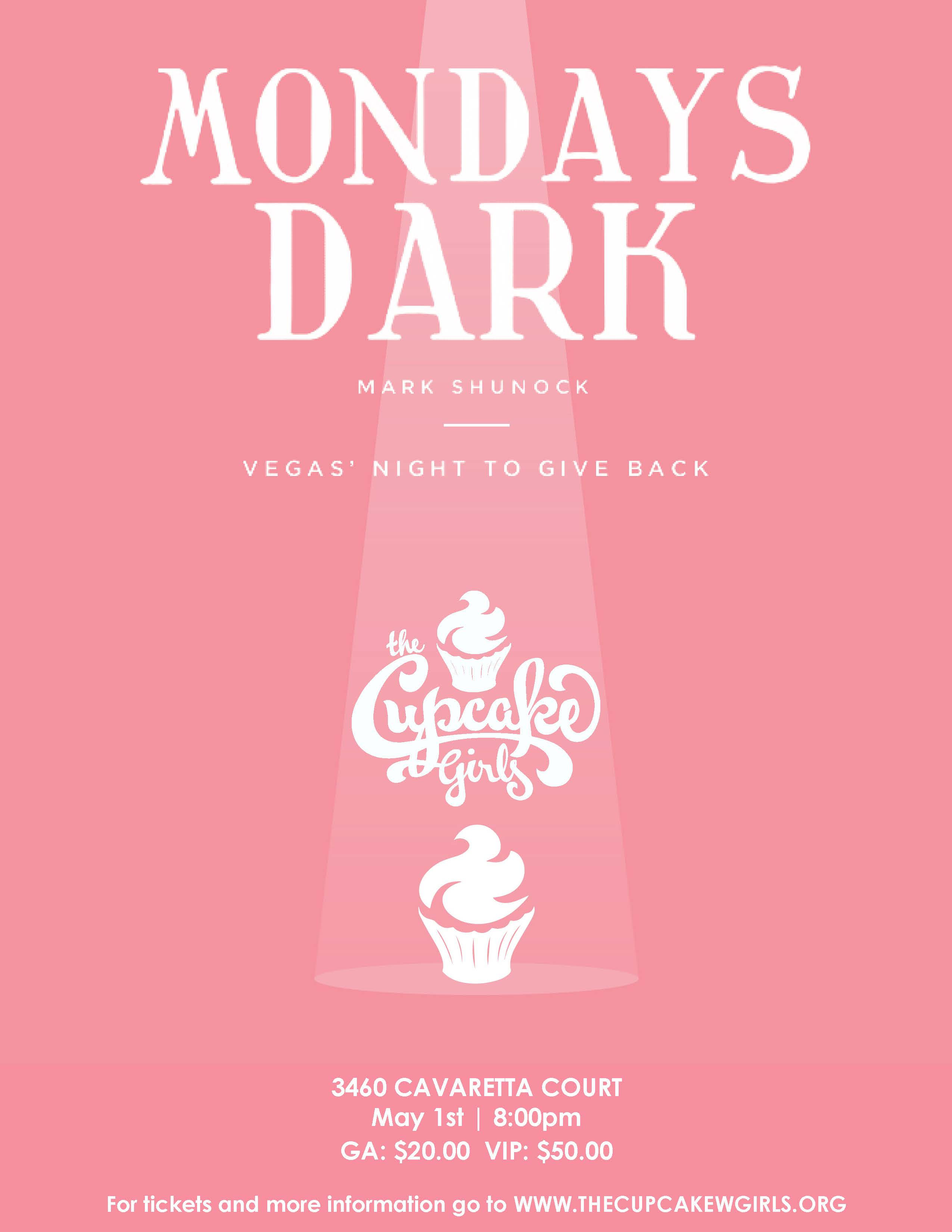 Mondays dark the cupcake girls what does that mean well it has nothing to do with the weather in a city known for its world class entertainment dark days are slow days or days off m4hsunfo