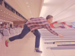 man bowling in perfect form
