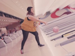 joy hoover bowling action shot
